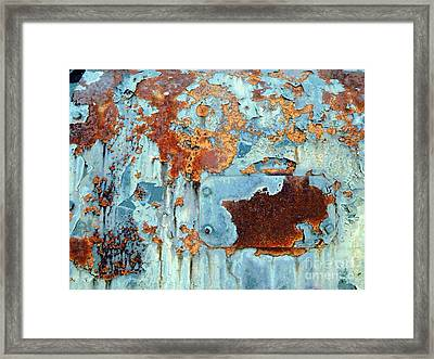 Rust - My Rusted World - Train - Abstract Framed Print by Janine Riley
