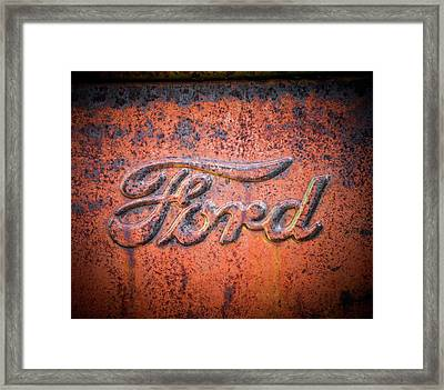 Rust Never Sleeps - Ford Framed Print