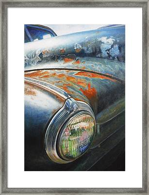Rust Never Sleeps Framed Print by Joan Florido
