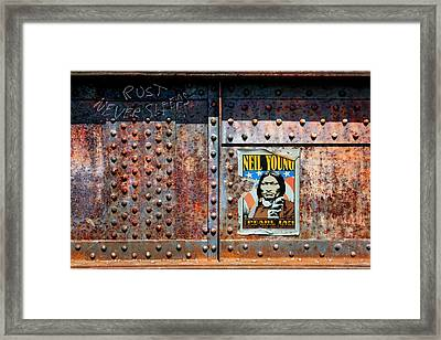 Rust Never Sleeps, Neil Young Framed Print