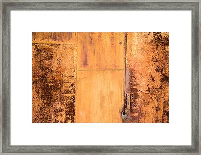 Framed Print featuring the photograph Rust On Metal Texture by John Williams
