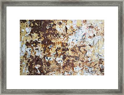 Framed Print featuring the photograph Rust Paper Texture by John Williams