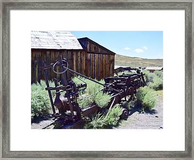 Rust Sleeps Framed Print
