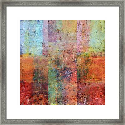 Framed Print featuring the painting Rust Study 1.0 by Michelle Calkins