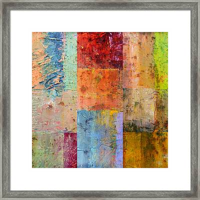 Framed Print featuring the painting Rust Study 2.0 by Michelle Calkins