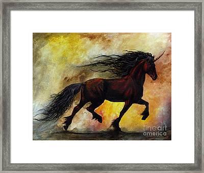 Rust Unicorn Framed Print by Stanley Morrison