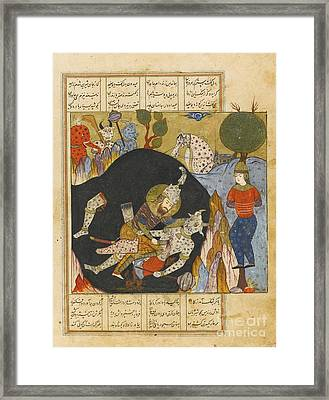 Rustam Killing The White Div Framed Print