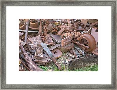 Rusted Cast Iron Scrap Pile Framed Print