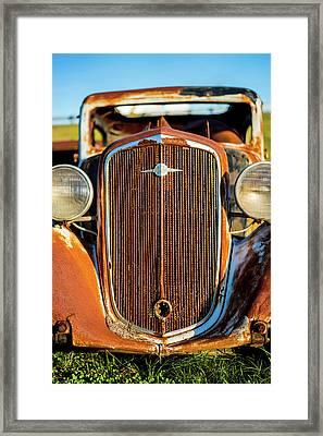 Rusted Chevrolet Framed Print
