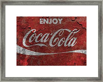 Rusted Coca Cola Metal Sign Framed Print by Dan Sproul