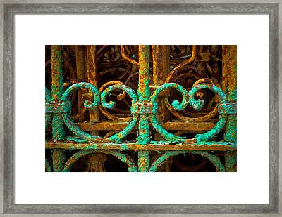 Rusted Gates Framed Print by Craig Perry-Ollila