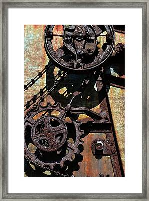 Rusted Gears 2.0 Framed Print
