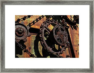 Rusted Gears Framed Print