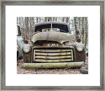 Rusted Gmc Pickup Truck Framed Print by Robert Myers