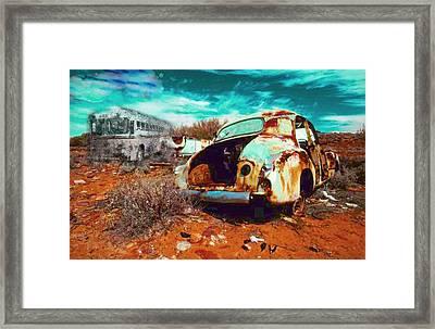 Rusted Framed Print by Leah Devora