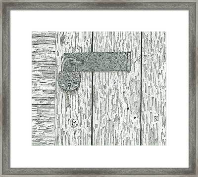 Rusted Lock And Latch Framed Print