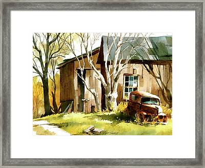 Rusted 'n Retired Framed Print by Art Scholz
