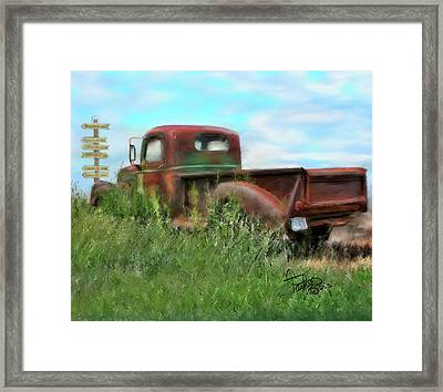 Rusted Not Retired Framed Print