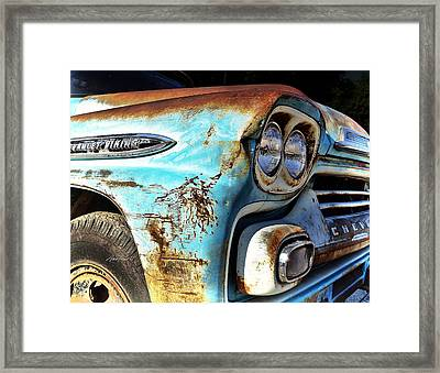 Rusted Old Chevy Truck - Photography Framed Print