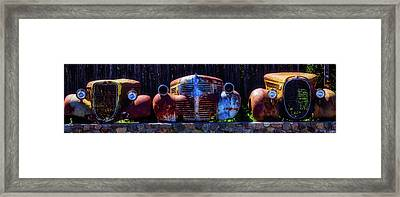 Rusted Out Old Cars Framed Print