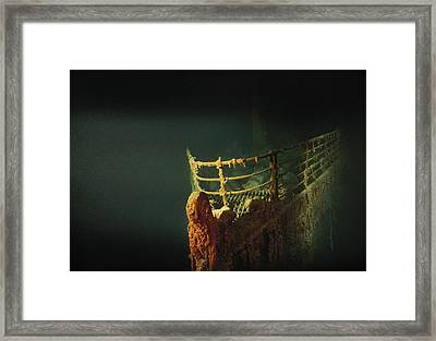 Rusted Prow Of The R.m.s. Titanic Ocean Framed Print
