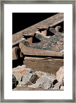 Rusted Rail Framed Print by Colleen Coccia