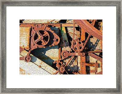 Rusted Reaction Framed Print