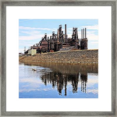 Rusted Relection Framed Print