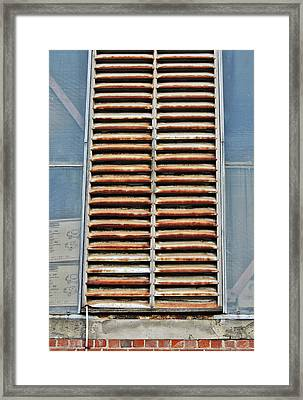 Framed Print featuring the photograph Rusted Shut by Stephen Mitchell
