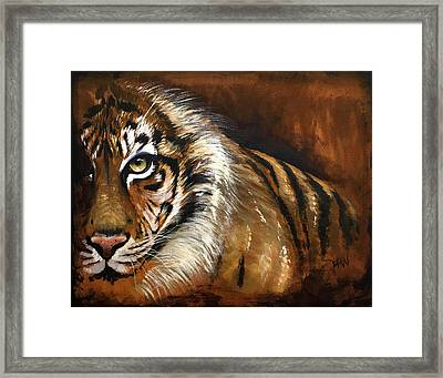 Rusted Tiger Framed Print by Holly Whiting