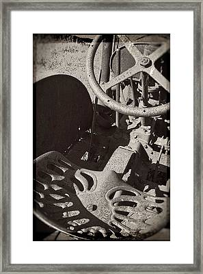 Framed Print featuring the photograph Rusted Tractor by Michelle Calkins