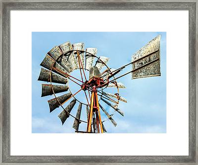 S And L Windmill Framed Print