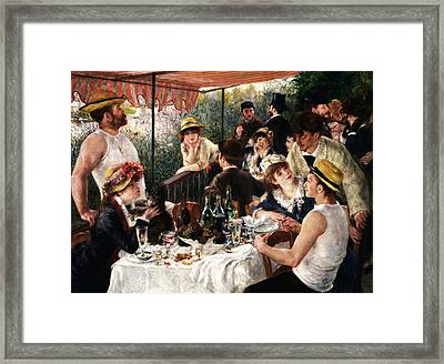 Rustic 19 Renoir Framed Print by David Bridburg