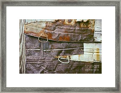 rustic abstract photograph - Sheet Metal Wall Framed Print