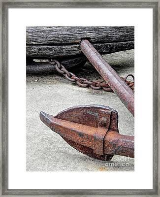 Rustic Anchor Framed Print