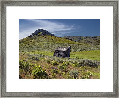 Rustic And Weathered Framed Print by Leland D Howard