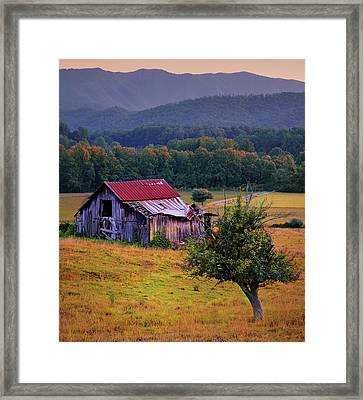 Rustic Barn - Wears Valley Tennessee Framed Print