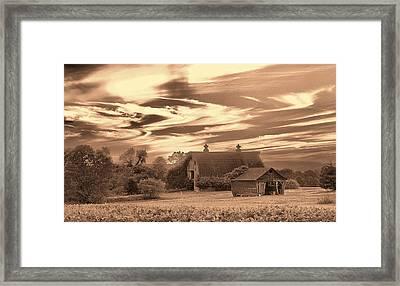 Rustic Barn 2 Framed Print by Mark Fuller