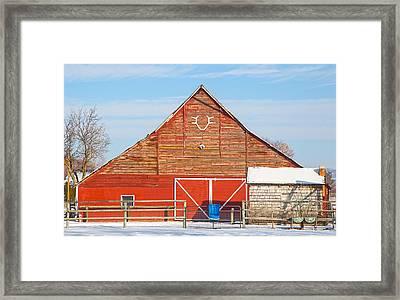 Rustic Barn In Idaho Framed Print