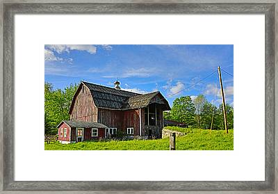 Framed Print featuring the photograph Rustic Barn In The Catskills by Paula Porterfield-Izzo