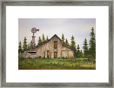 Framed Print featuring the painting Rustic Barn by James Williamson
