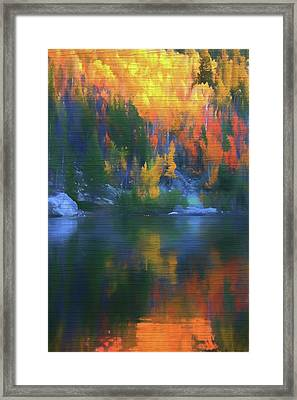 Rustic Bear Lake Colorado Autumn Reflection Framed Print by Dan Sproul