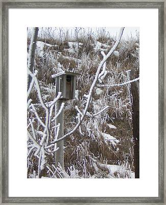 Rustic Birdhouse Framed Print by Deena Keller