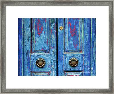Rustic Blue Doors Framed Print by Tim Gainey