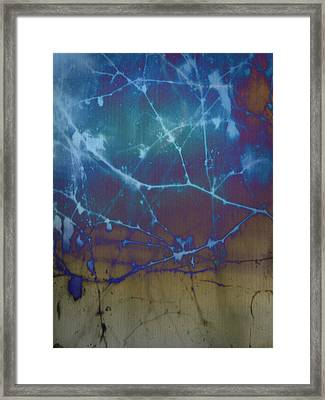 Rustic Blue Framed Print by Rose  Hill