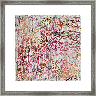 Rustic Bones Framed Print