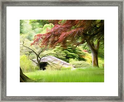Rustic Bridge Framed Print