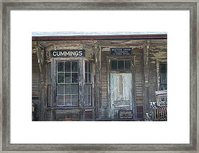 Rustic Building Framed Print by Sue Mayor