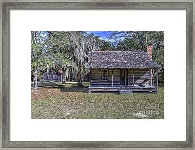 Rustic Cabin Framed Print by Rick Mann