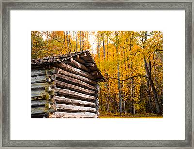 Rustic Cabin Framed Print by Shelby Young
